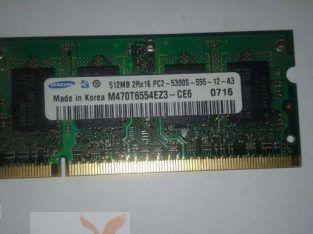 Rams 512MB DDR2 Laptop Samsung رامة 512 سامسونج اوريجنال لاب توب